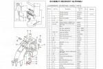 Tuleja dolna pręta docisku + śruba (5-8) GK 26-1A, Zoje ZJ 26-1A