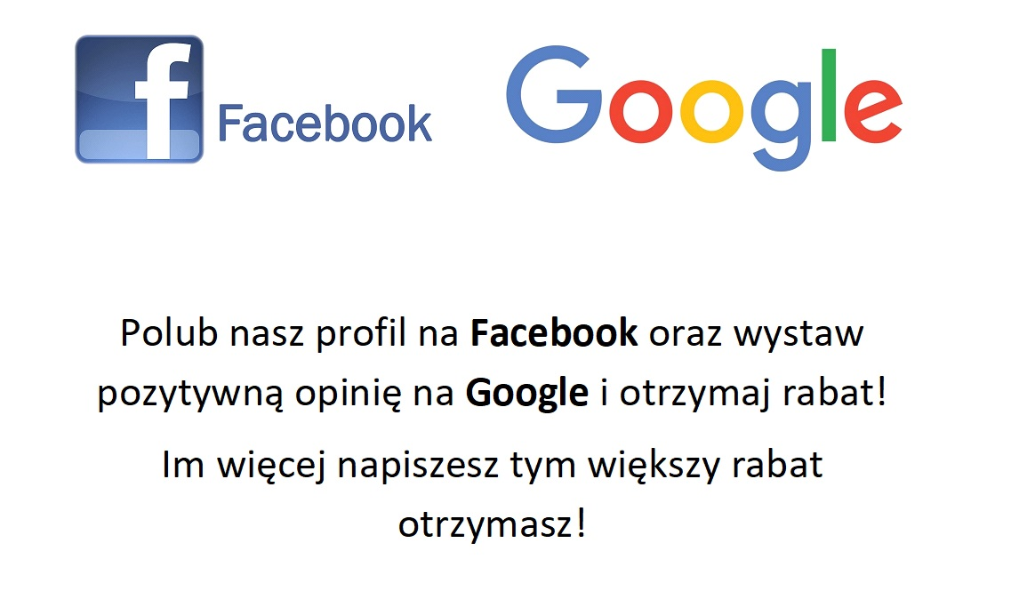 Facebook, Google - rabat!